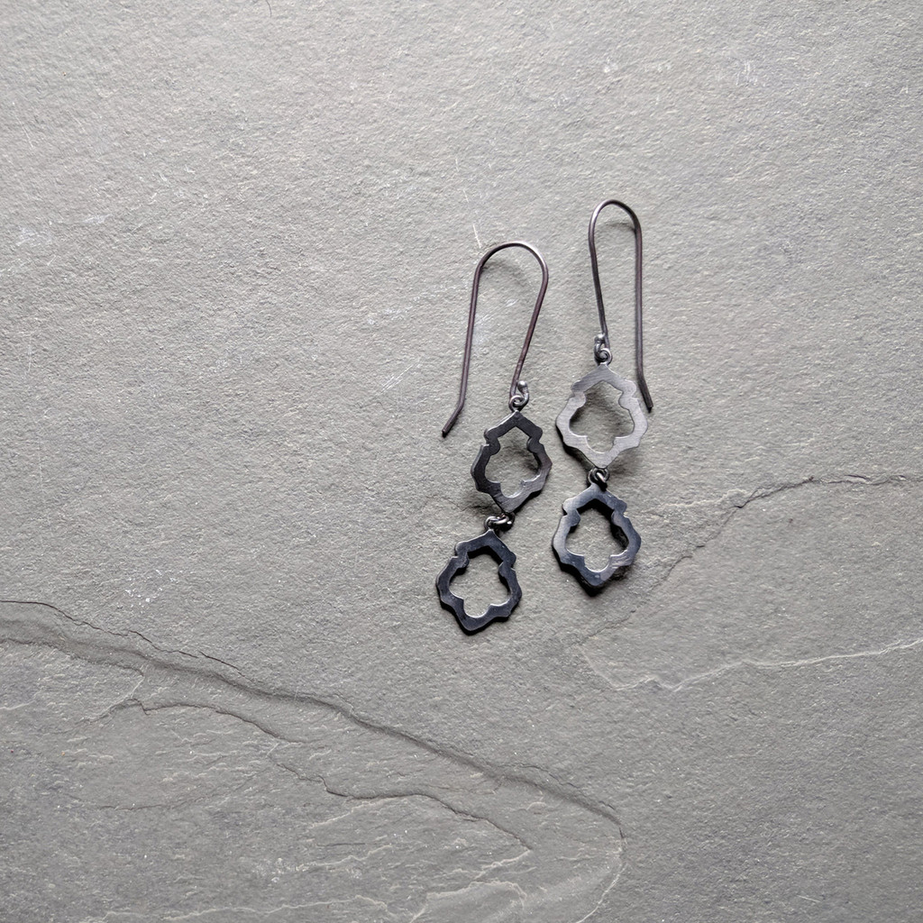 Lotus Earrings No. 2 Patina