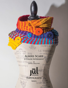 Albers Scarf with Resin Pedestal Buttons