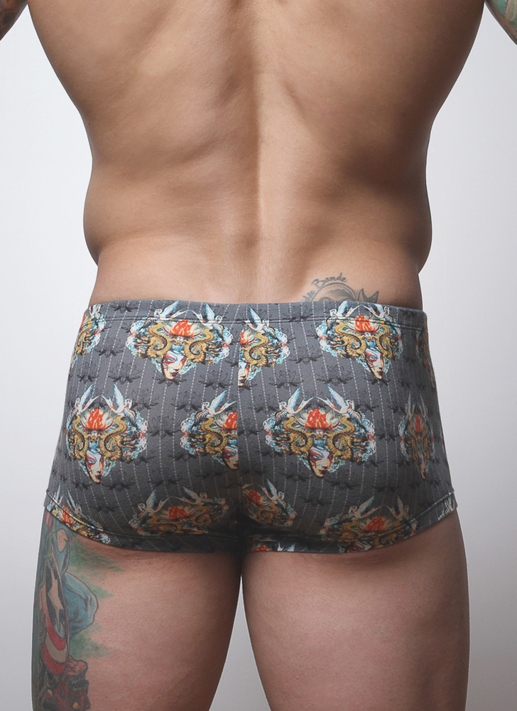 Our Square Cut Brief printed in a pattern you'll only find at /baskit/.