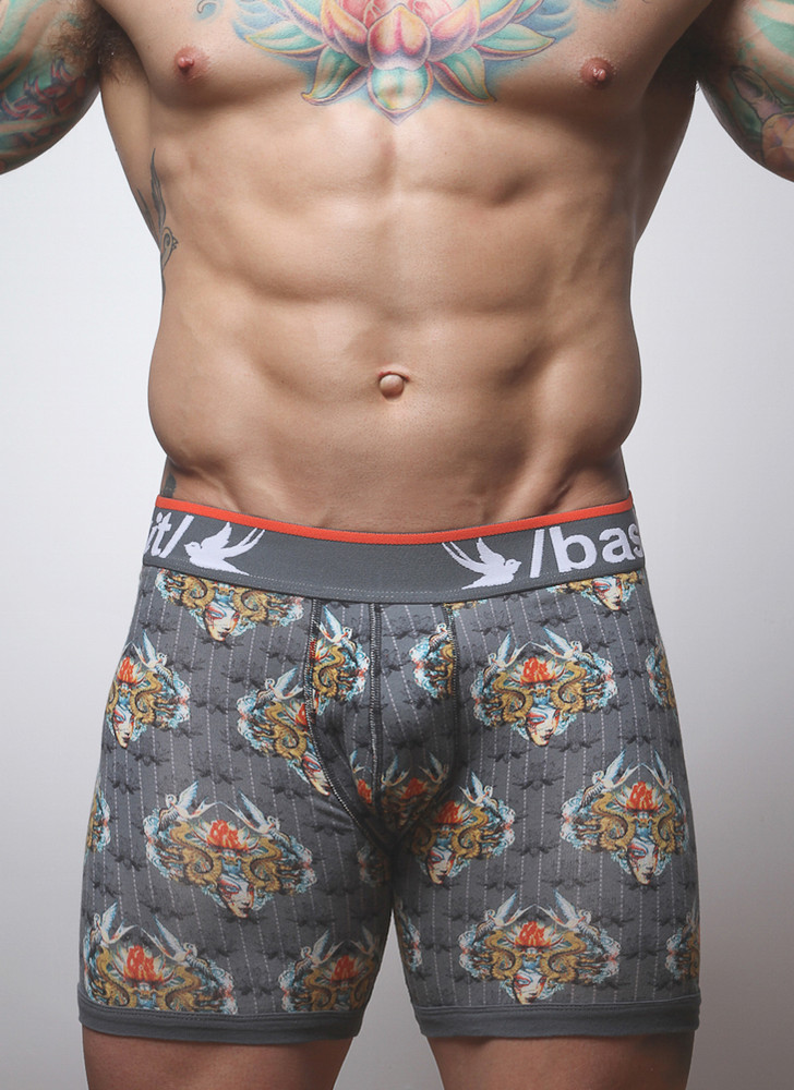 The supportive Boxer Brief with a BodyArt print.
