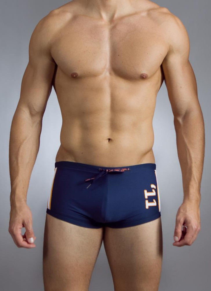 If a traditional swimsuit is too long for your tastes but our Rise Bikini is too short, look no further than the /baskit/ Block Trunk!