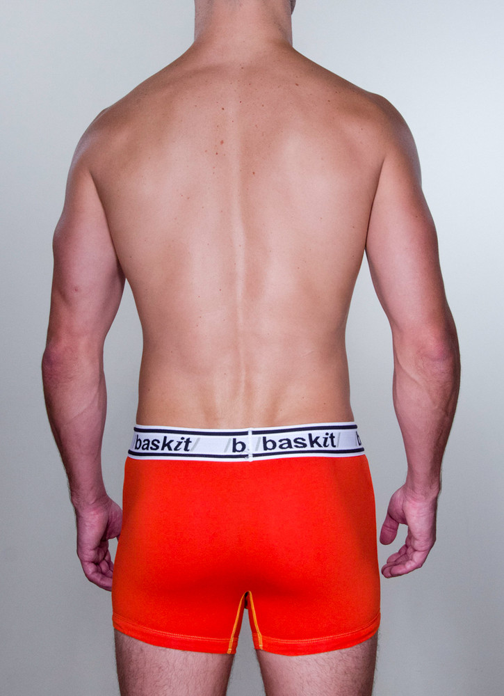 Baskit Light Trunk in blood orange color back.