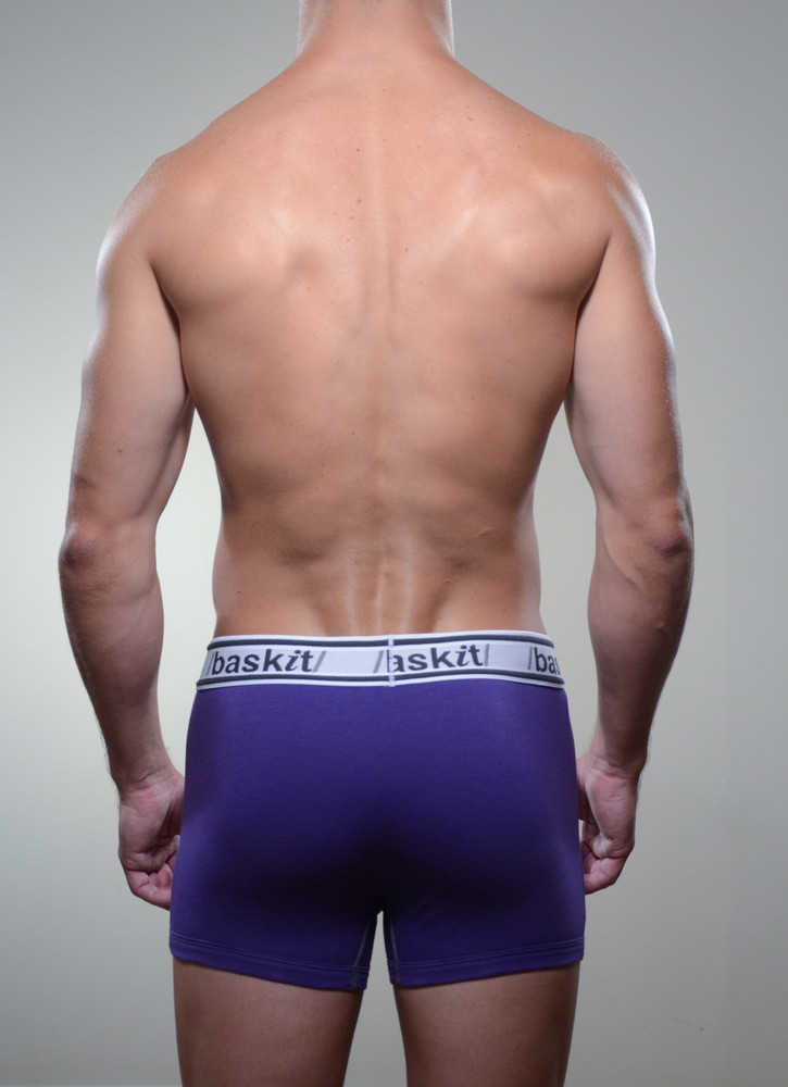 Baskit Light Trunk in royal purple color back.