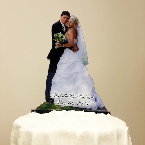 Photo Cake Topper, acrylic photo ornaments, Custom Acrylic PhotoStatuettes, Photo Statues, Photo Cut Outs, Photo Cutouts,  Photo Sculptures, Photo Gifts, Centerpieces, Photo Products, Personalized Photo Products