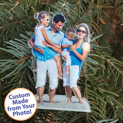 acrylic photo ornaments, Custom Acrylic PhotoStatuettes, Photo Statues, Photo Cut Outs, Photo Cutouts,  Photo Sculptures, Photo Gifts, Centerpieces, Photo Products, Personalized Photo Products
