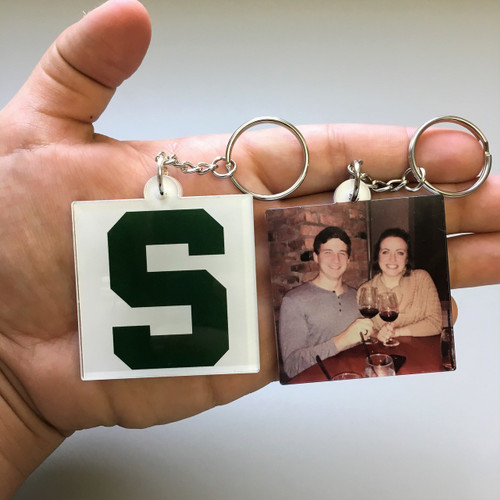 Double-Sided Photo Keychains-Square/Rectangle