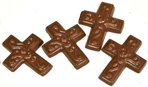 Sugar Free Chocolate Crosses, Set of 4, about 1.5 oz