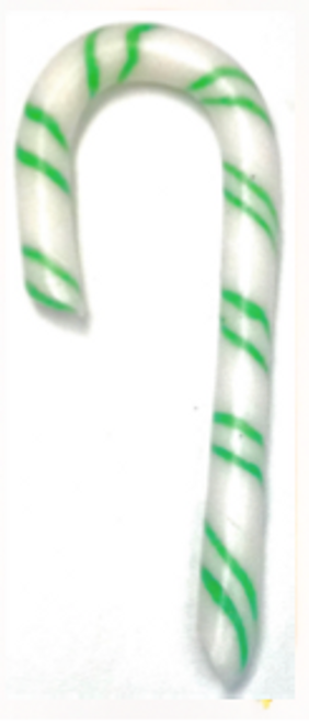 SPEARMINT Sugar Free 5 inch Candy Cane, individually wrapped, Hand Made in America