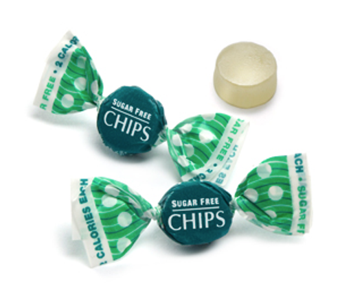 4 oz - Sugar Free Eucalyptus Menthol CHIPS Italian Gourmet (Mentholated Pastilles (CHEWY) Sweetened with Stevia