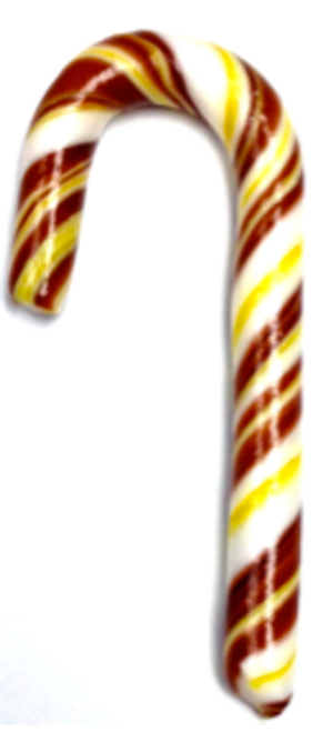 "Diabeticfriendly's Sugar Free CHOCOLATE & BANANA Candy Cane  5"" -  Handmade in USA, Uses isomalt, Individually wrapped"