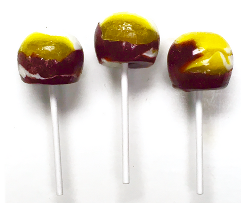 Diabeticfriendly's Sugar Free, Hard Candy, CAP POPS - CHOC & BANANA, .6 oz,  Individually Wrapped, Set of 6, Handcrafted in Ohio