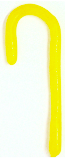 "Diabeticfriendly's Sugar Free SOUR LEMON ""the Solids"" Candy Cane 5"" -  Handmade in USA, SINGLE CANE, Uses isomalt, Individually wrapped, perfect to hang on tree."