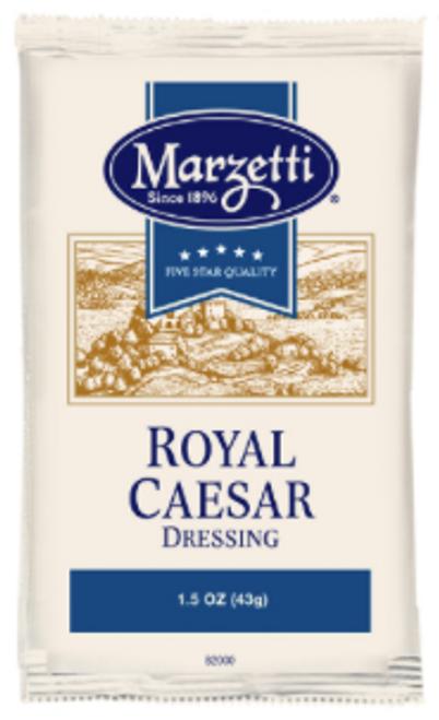 Marietta's Royal (Creamy) Caesar Dressing, 1.5 oz pouch, Portion Control, 2 Total Carbs, 1g carb of Sugar