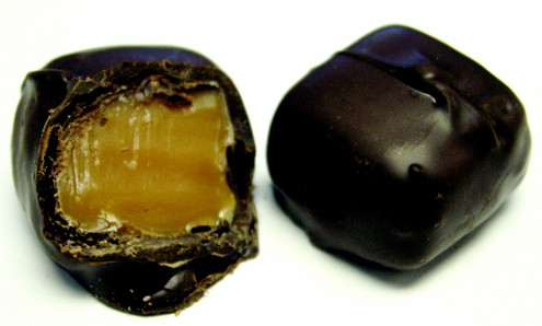 Sugar Free Dark Chocolate Covered Caramels - 28 pcs - 18 oz Gift Box