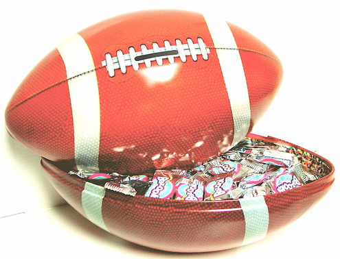 Football Bank/Gift Tin filled with Sugar Free Treats 2 lbs