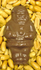 P-NUTTY Santa, Sugar Free Chocolate Santa STUFFED with Fresh Roasted Salted Peanuts 2 oz