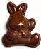 2 inch tall Sitting Easter Bunny w/Carrot, Sugar Free Chocolate (.6 oz), Set of 5