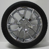 """New Set of 4 Chrome 22"""" Honeycomb Wheels with Bridgestone Dueler Alenza Tires for Chevy Trucks or SUVs"""