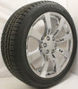 "New Set of 4 Chrome 22"" Eight Spoke Wheels with Bridgestone Dueler Alenza Tires for Chevy Trucks or SUVs"