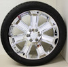 "New Set of 4 Chrome 22"" With Chrome Inserts Wheels with Bridgestone Dueler Alenza Tires for GMC Trucks or SUVs"