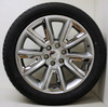 """New Set of 4 Hyper Silver 22"""" New V Style Chrome Inserts Wheels with Bridgestone Dueler Alenza Tires for Chevy Trucks or SUVs"""