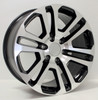 "New Set of 4 Black and Machine 20"" Split Spoke Wheels for Chevy Silverado, Tahoe, Suburban"