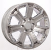 """New Set of 4 Hyper Silver 20"""" With Chrome Inserts Wheels for Chevy Silverado, Tahoe, Suburban"""