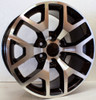 "New Set of 4 Black and Machine 20"" Honeycomb Wheels for Chevy Silverado, Tahoe, Suburban"
