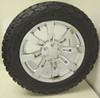 """New Set of 4 Chrome 20"""" Eight Spoke Wheels with BFG KO2 A/T Tires for Chevy Trucks or SUVs"""