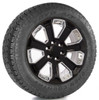 "Gloss Black 20"" With Chrome Inserts Wheels with Toyo A/T Tires for GMC Sierra, Yukon, Denali - New Set of 4"