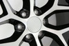 "Black and Machine 22"" Snowflake Wheels for Chevy Silverado, Tahoe, Suburban - New Set of 4"