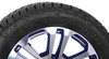 "Black and Machine 20"" Split Spoke Wheels with Nitto A/T Tires for GMC Sierra, Yukon, Denali - New Set of 4"