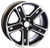 "Black and Machine 22"" Five Spoke for GMC Sierra, Yukon, Denali - New Set of 4"