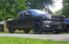 "Gloss Black 22"" Eight Spoke Wheels with Bridgestone Tires for GMC Sierra, Yukon, Denali - New Set of 4"