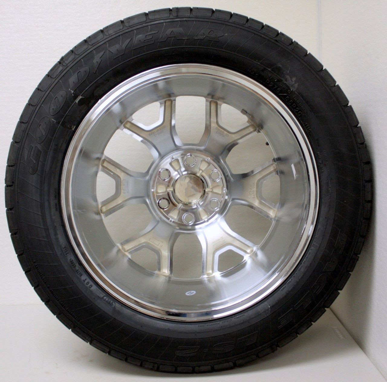 """Chrome 20"""" Honeycomb Wheels with Goodyear Tires for Chevy Silverado, Tahoe, Suburban - New Set of 4"""