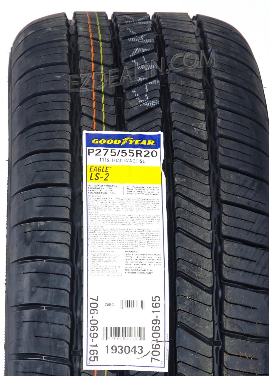 "Chrome 20"" Snowflake Wheels With Goodyear Tires for Chevy Silverado, Tahoe, Suburban - New Set of 4"
