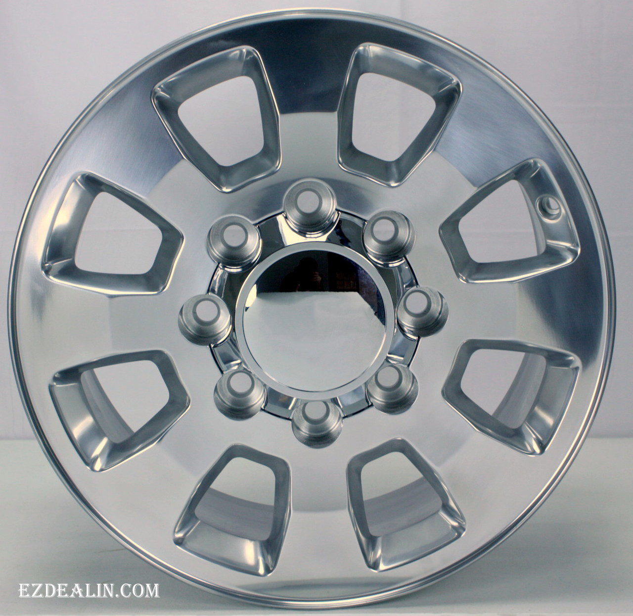 "Polished 18"" Denali Style 8 Lug 8-180 Wheels for 2011-2018 Chevy 2500 3500 - New Set of 4"