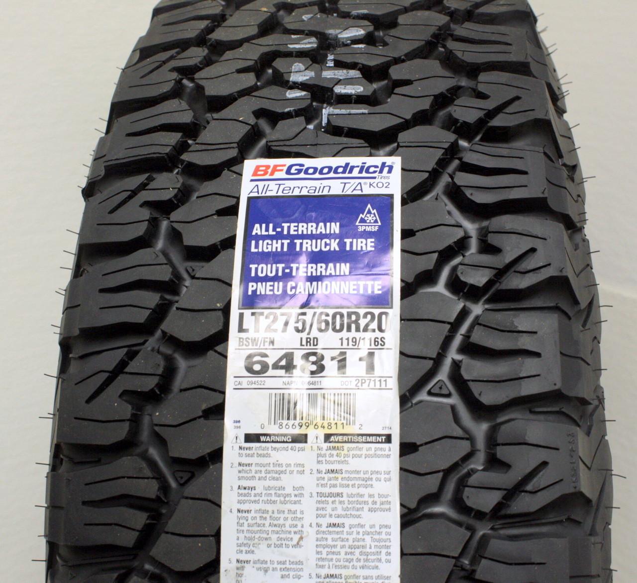 "Black and Machine 20"" Honeycomb Wheels with BFG KO2 A/T Tires for GMC Sierra, Yukon, Denali - New Set of 4"