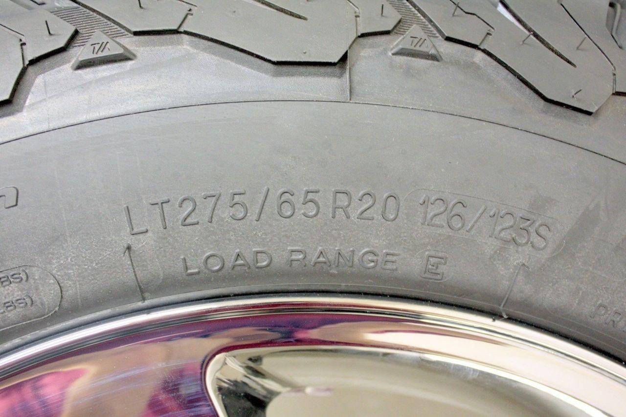 "20"" 8 Lug 8-180 Chrome Wheels With BFG A/T KO2 275/65/20 Tires for 2011-2018 GMC Sierra, Denali HD 2500 3500 - New Set of 4"