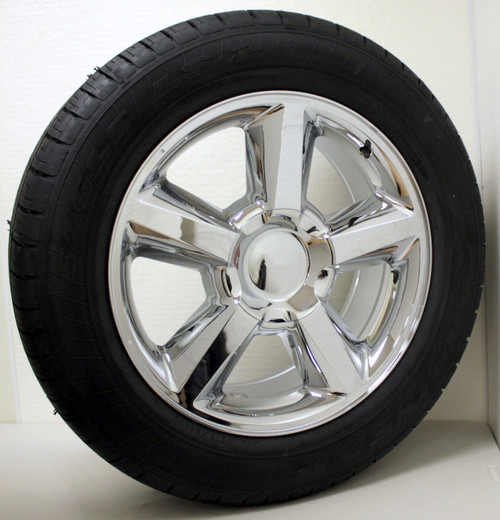 "Chrome 20"" Old Style LTZ Wheels with Goodyear Tires for GMC Sierra, Yukon, Denali - New Set of 4"