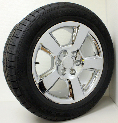 "Chrome 20"" New Style LTZ Wheels with Goodyear Tires for GMC Sierra, Yukon, Denali - New Set of 4"