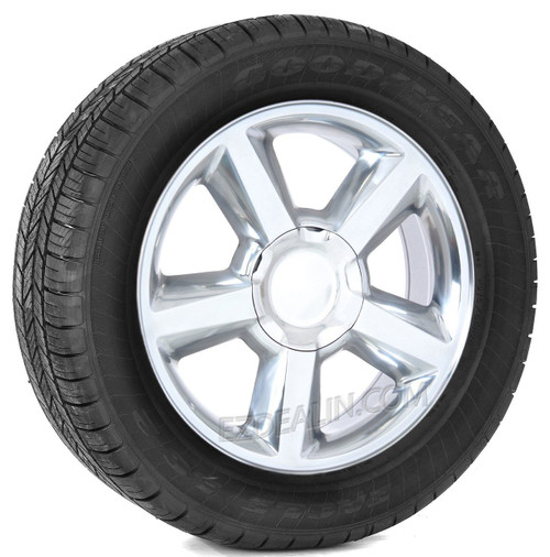 "Polished 20"" Old Style LTZ Wheels with Goodyear Tires for Chevy Silverado, Tahoe, Suburban - New Set of 4"