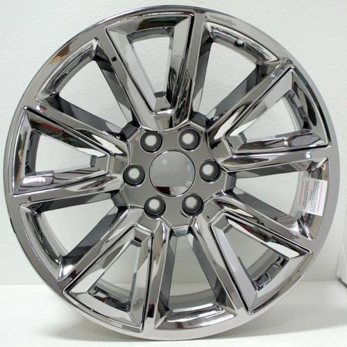 "Chrome 20"" New V Style Chrome Inserts Wheels for Chevy Silverado, Tahoe, Suburban - New Set of 4"
