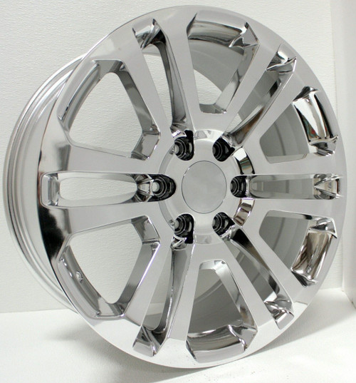 "Chrome 20"" Split Spoke Wheels for Chevy Silverado, Tahoe, Suburban - New Set of 4"