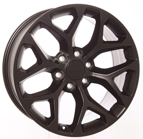 "20"" black satin snowflake for Chevy Trucks and SUVs"