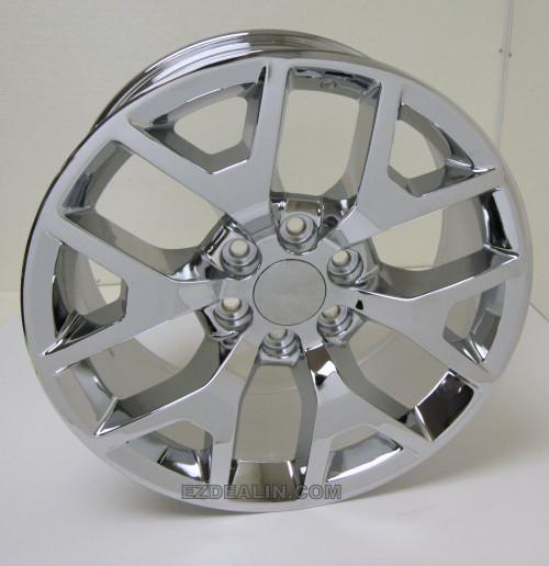 "New Set of 4 Chrome 20"" Honeycomb Wheels for Chevy Silverado, Tahoe, Suburban"