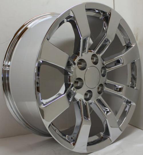 """New Set of 4 Chrome 20"""" Eight Spoke Wheels for Chevy Silverado, Tahoe, Suburban"""