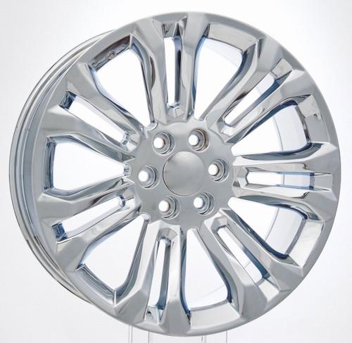 """Chrome 22"""" New Style Split Spoke Wheels for Chevy Silverado, Tahoe, Suburban - New Set of 4"""