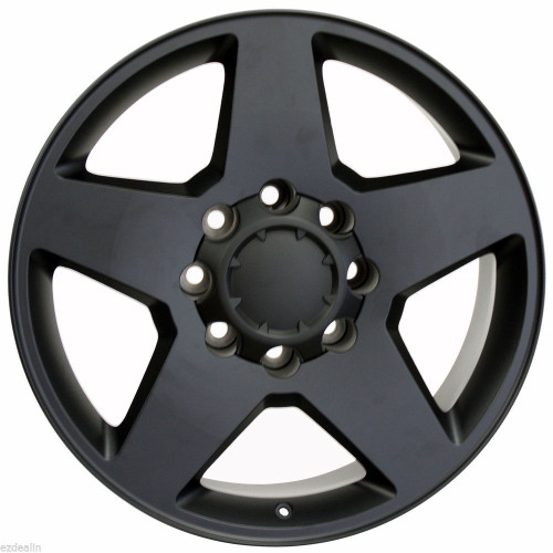 "Satin Matte Black 20"" 8 Lug 8-180 Wheels for 2011-2018 Chevy 2500 3500 - New Set of 4"
