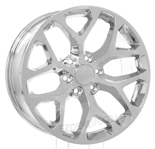 "Chrome 20"" Snowflake Wheels for GMC Sierra, Yukon, Denali - New Set of 4"